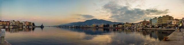The Greek island of Lesvos.